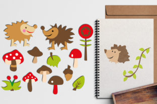 Hedgehog and Toadstool Graphic By Revidevi