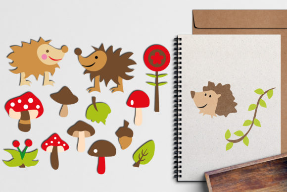 Print on Demand: Hedgehog and Toadstool Graphic Illustrations By Revidevi