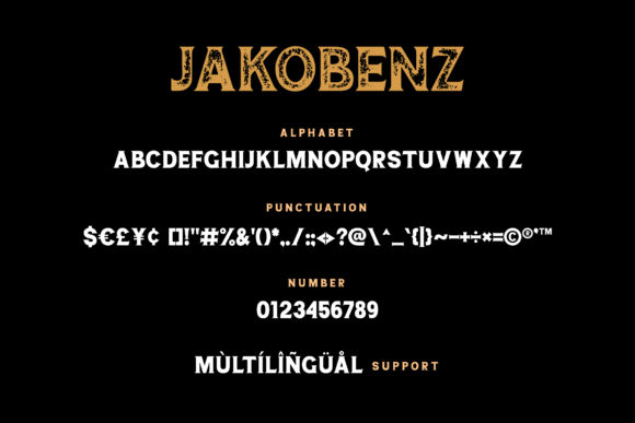 Print on Demand: Jakobenz Serif Font By Grezline Studio - Image 6