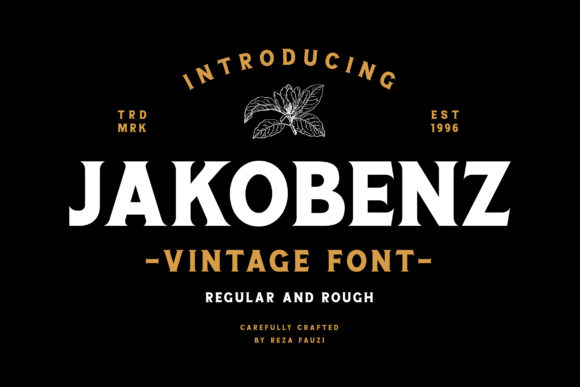Print on Demand: Jakobenz Serif Font By Grezline Studio - Image 1