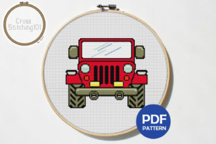 Download Free Jeep Modern Cross Stitch Pattern Graphic By Crossstitching101 for Cricut Explore, Silhouette and other cutting machines.