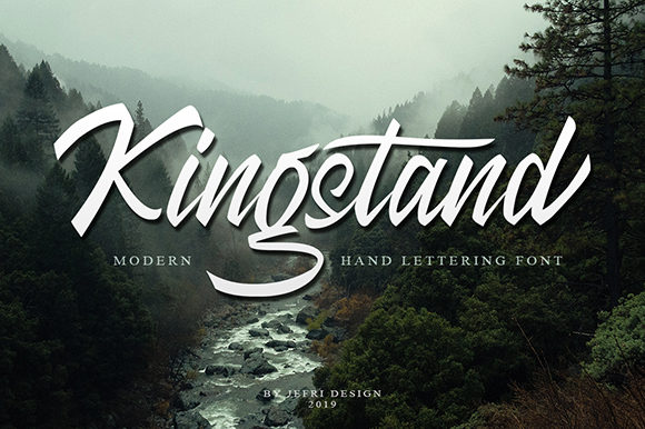 Print on Demand: Kingstand Script & Handwritten Font By Bluestype Studio