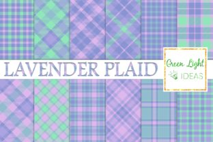 Lavender Plaid Digital Papers Textures Graphic By GreenLightIdeas