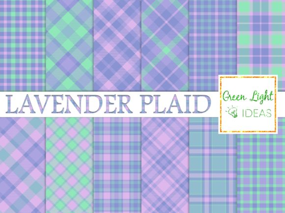 Lavender Plaid Digital Papers Textures Graphic Backgrounds By GreenLightIdeas
