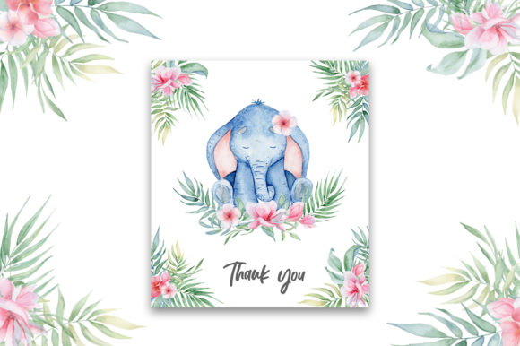 Lovely Elephants Watercolor Set Animals Graphic Illustrations By EvgeniiasArt - Image 13