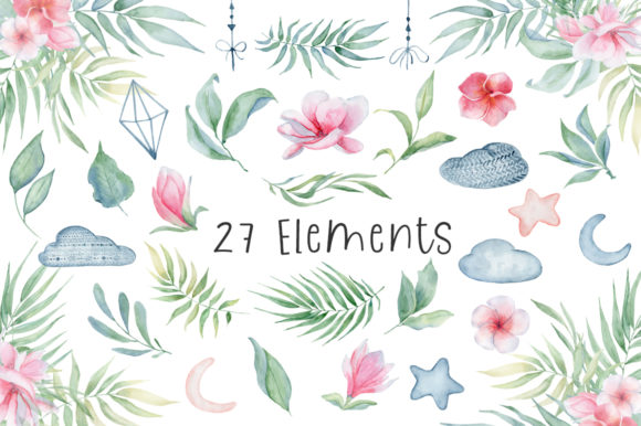 Lovely Elephants Watercolor Set Animals Graphic Illustrations By EvgeniiasArt - Image 3