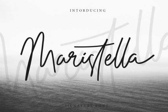 Print on Demand: Maristella Script & Handwritten Font By Arendxstudio