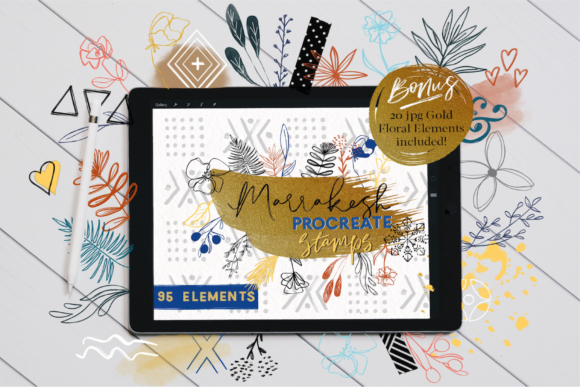 Marrakesh Procreate Stamps Graphic Brushes By OkayAnnie Designs