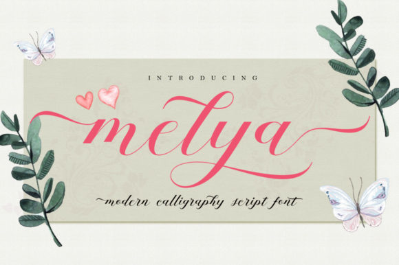 Melya Script & Handwritten Font By Stripes Studio