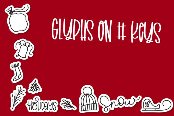 Print on Demand: Merry Christmas Dingbats Font By Justina Tracy - Image 2