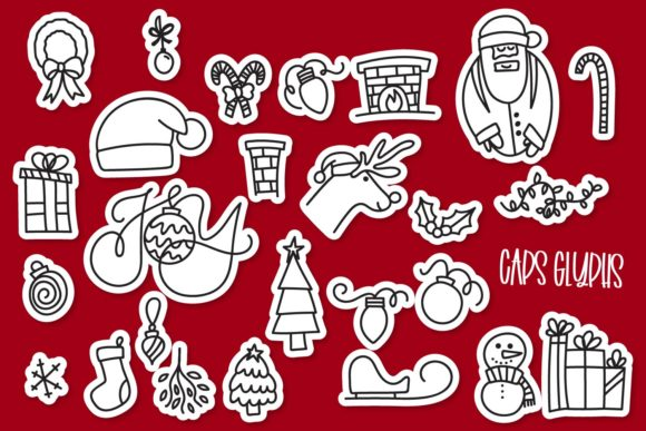 Print on Demand: Merry Christmas Dingbats Font By Justina Tracy - Image 3