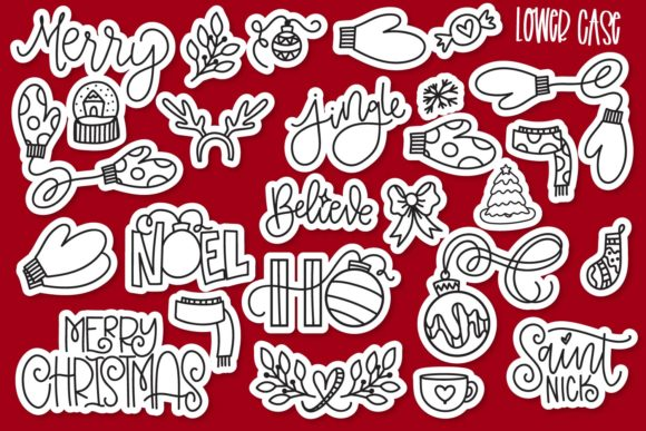 Print on Demand: Merry Christmas Dingbats Font By Justina Tracy - Image 4
