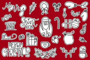 Print on Demand: Merry Christmas Dingbats Font By Justina Tracy