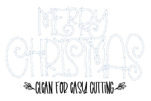 Merry Christmas Font By Justina Tracy Image 5