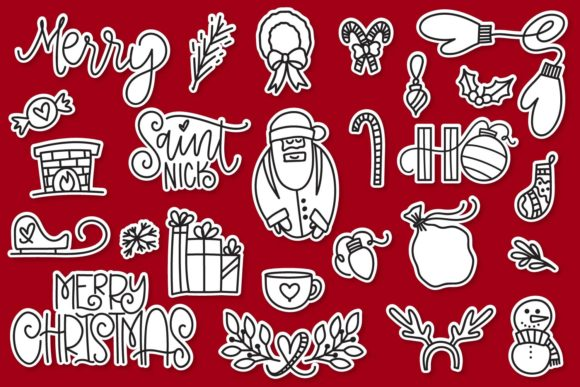 Print on Demand: Merry Christmas Dingbats Schriftarten von Justina Tracy