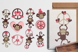 Monkey Peace Pink Graphic By Revidevi