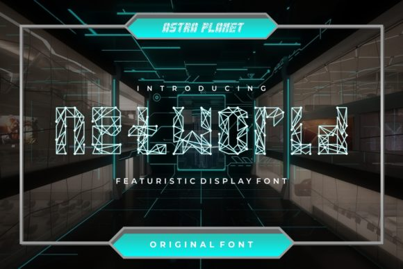 Net World Display Font By putracetol