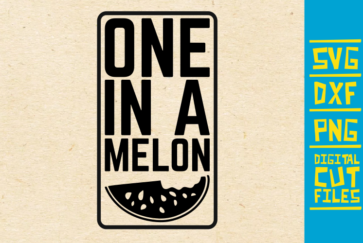 Download Free One In A Melon Svg Watermelon Summer Graphic By for Cricut Explore, Silhouette and other cutting machines.