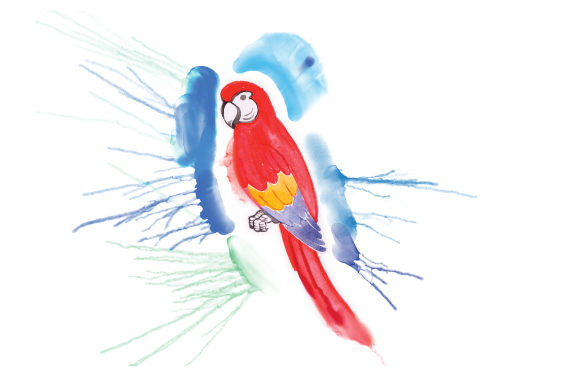 Download Free Parrot In Paint Splatter Watercolor Style Svg Cut File By for Cricut Explore, Silhouette and other cutting machines.