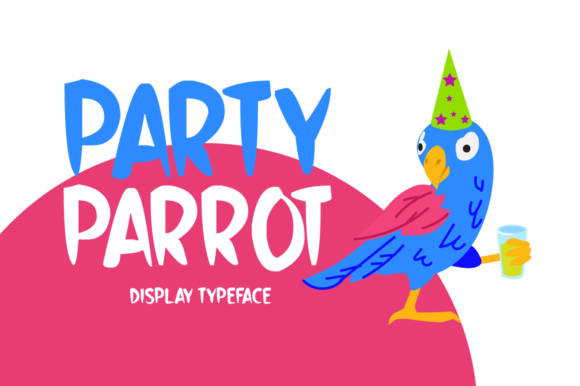 Print on Demand: Party Parrot Display Font By Shattered Notion
