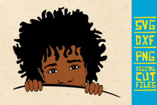 Download Free Peeking Boy With Afro Hair Svg African Graphic By for Cricut Explore, Silhouette and other cutting machines.