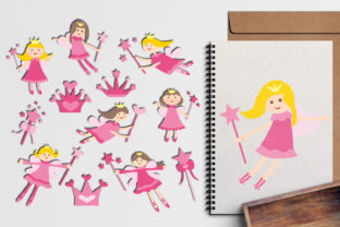 Pink Fairy with Magic Wand Graphic By Revidevi