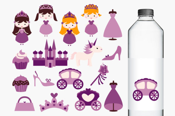 Print on Demand: Princess Party Purple Graphic Illustrations By Revidevi - Image 1