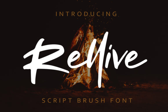 Print on Demand: Rellive Script & Handwritten Font By Arendxstudio