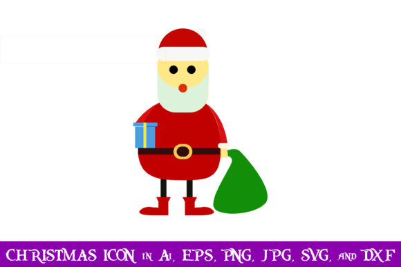 Download Free Santa Claus Christmas Icon Graphic By Purplespoonpirates for Cricut Explore, Silhouette and other cutting machines.