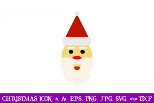 Download Free Santa Claus Head Christmas Icon Graphic By Purplespoonpirates for Cricut Explore, Silhouette and other cutting machines.