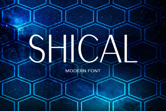 Print on Demand: Shical Sans Serif Font By maxim.90.ivanov - Image 1