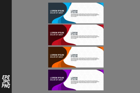 Print on Demand: Simple Banner Template Bundle Graphic Graphic Templates By Arief Sapta Adjie