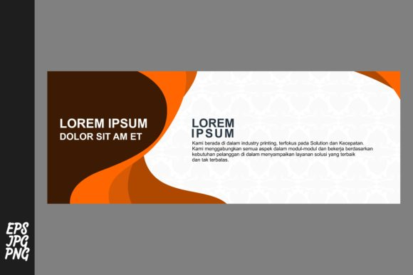 Print on Demand: Simple Banner Template Graphic Graphic Templates By Arief Sapta Adjie