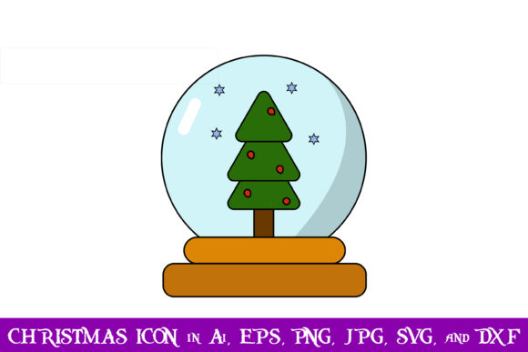 Download Free Snow Globe Christmas Icon Graphic By Purplespoonpirates for Cricut Explore, Silhouette and other cutting machines.