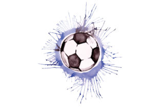Soccer Ball in Paint Splatter Watercolor Style Sports Craft Cut File By Creative Fabrica Crafts