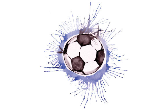 Download Free Soccer Ball In Paint Splatter Watercolor Style Svg Cut File By for Cricut Explore, Silhouette and other cutting machines.