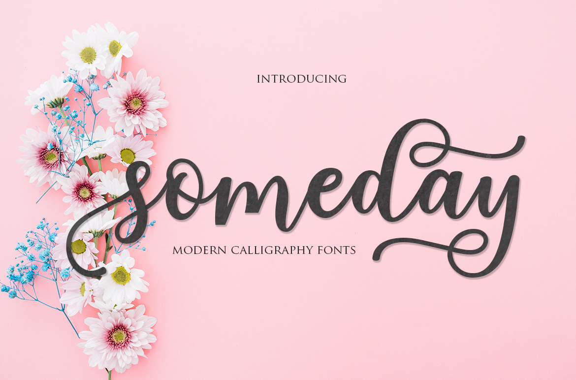 Download Free Someday Script Font By Mrletters Creative Fabrica for Cricut Explore, Silhouette and other cutting machines.