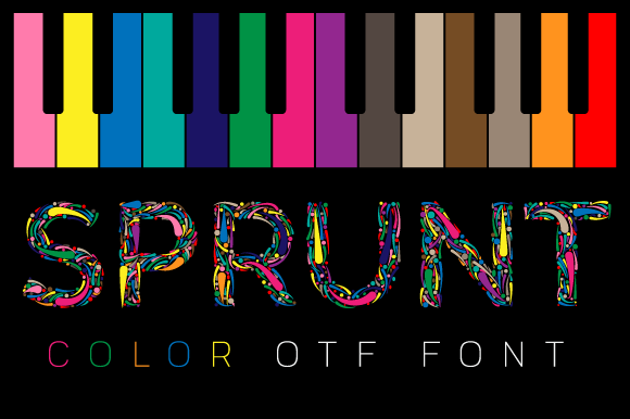 Print on Demand: Sprunt Color Fonts Font By TanveerType
