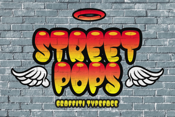Print on Demand: Street Pops Display Font By Blankids Studio