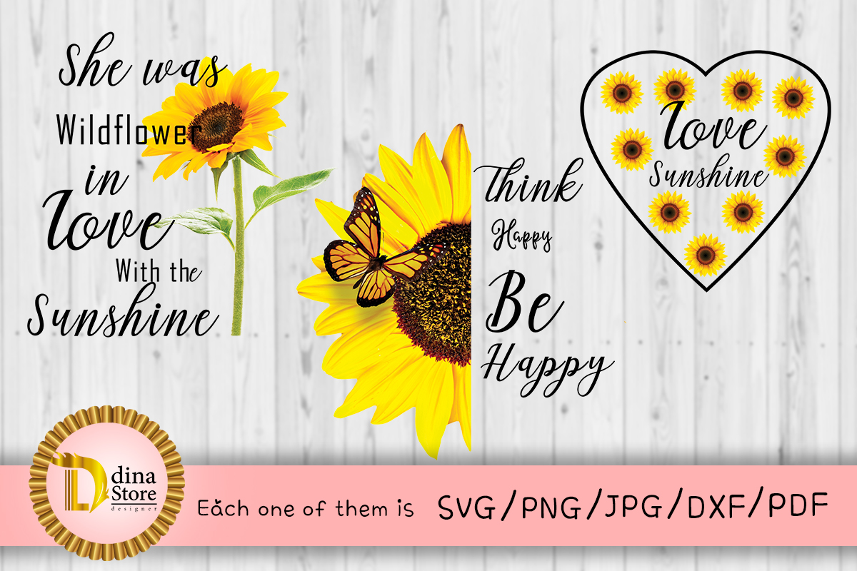 Download Free Sunflower Quote Graphic By Dina Store4art Creative Fabrica for Cricut Explore, Silhouette and other cutting machines.