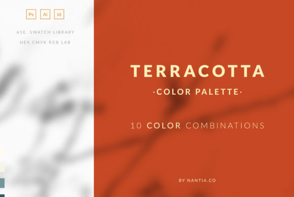 Print on Demand: Terracotta Color Palette Collection Graphic Add-ons By nantia