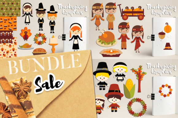 Print on Demand: Thanksgiving Day Bundle Graphic Illustrations By Revidevi