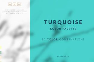 Turquoise Color Palette Collection Graphic By nantia