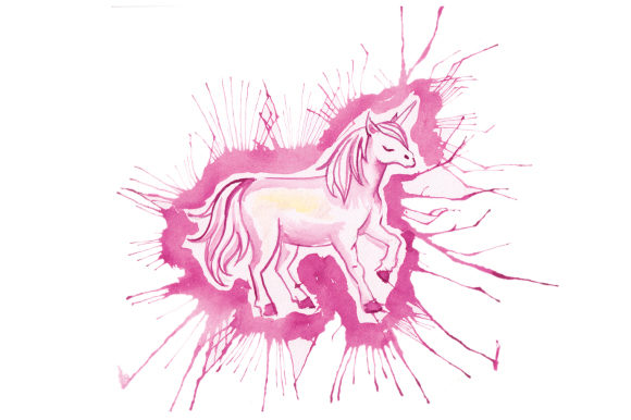 Download Free Unicorn In Paint Splatter Watercolor Style Svg Cut File By for Cricut Explore, Silhouette and other cutting machines.