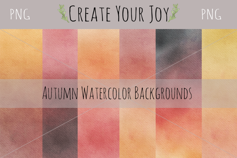 Watercolor Autumn Fall Backgrounds Graphic By Create Your Joy