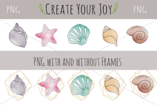 Print on Demand: Watercolor Seashells with Printables Graphic Illustrations By Create Your Joy