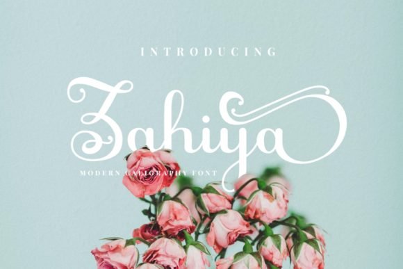 Print on Demand: Zahiya Script & Handwritten Font By putracetol
