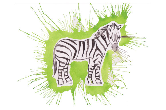 Download Free Zebra In Paint Splatter Watercolor Style Svg Cut File By for Cricut Explore, Silhouette and other cutting machines.