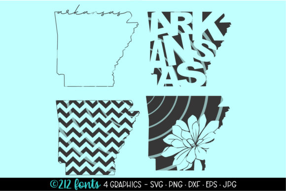 Download Free 4 Arkansas State Map Graphics Graphic By 212 Fonts Creative for Cricut Explore, Silhouette and other cutting machines.