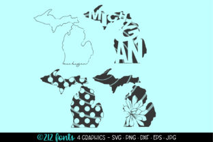 Download Free 4 Michigan State Map Graphics Svg Eps Graphic By 212 Fonts for Cricut Explore, Silhouette and other cutting machines.